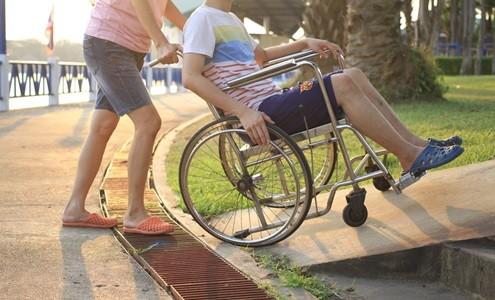 using wheelchair ramp safely